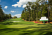 Looking behind the 10th green at Augusta National Golf Club during the US Masters, Augusta, Georgia, United States of America, North America