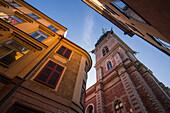Historische Gebäude in Gamla Stan, Stockholm, Schweden, Skandinavien, Europa