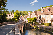 The pretty Cotswolds village of Castle Combe, north Wiltshire, England, United Kingdom, Europe