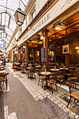 A cafe in Passage des Panoramas, Paris, France, Europe