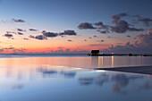 Pier at Olhuveli Beach and Spa Resort, South Male Atoll, Kaafu Atoll, Maldives, Indian Ocean, Asia