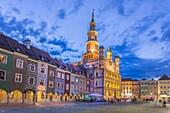 Polen, Poznan City, Stary Rynek, Rathaus Bldg. , Malerische Häuser, Altstädter Ring.