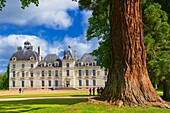 Cheverny, Castle and Gardens, Chateau de Cheverny, Cheverny Castle, Loire et Cher, Pays de la Loire, Loire Valley, UNESCO World Heritage Site, France.