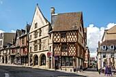 Bourges, typicals half-timberd houses, Cher department, region Centre-Val de Loire, France