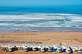 Camping El Barko, site for campervans, Sidi Ifni, Atlantic coast, southern Morocco, northern Africa.