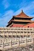 China, Beijing, Forbidden City, the Supreme Harmony door.