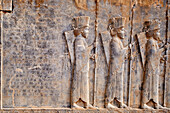 Iran, Fars Province, Persepolis, World Heritage of the UNESCO, procession of the tributaries.