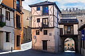 The Jewish Quarter and San Andres Gate in the city of Segovia, Spain