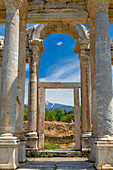 Tetrapylon, ruins of ancient Aphrodisias, Aydin Province, Turkey.