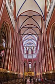 The minster in Bad Doberan near Rostock. A masterpiece build in north german brick high gothic style. Europe,Germany, Rostock.