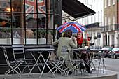 Terrasse, Tomtom coffee house, Ebury Street, Chelsea, London, England