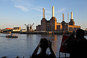 Battersea Power Station bevor der Bebauung, Battersea, London, England