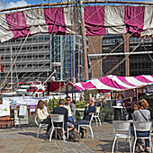 St. Katherine docks, City of London, Great Britain