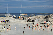 people taking sulfur mud bath, Vulcano Island, Aeolian Islands, Lipari Islands, Tyrrhenian Sea, Mediterranean Sea, Italy, Europe