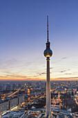 Berlin TV Tower  Fernsehturm  at Alexanderplatz East Berlin Germany
