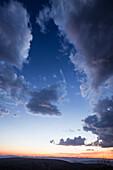 Abendhimmel in Damaraland, Kunene, Namibia