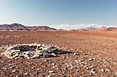 Pile of stones marking a road in Damaraland, Kunene, Namibia