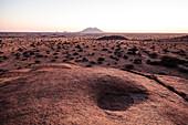 View from the Spitzkoppe to the plain, Erongo, Namibia