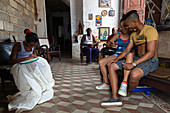 In a living room of Trinidad, Trinidad, Havana, Cuba