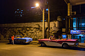 Taxis by Night, Havana Center, Cuba