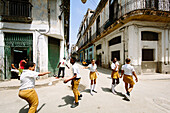 Students on their way to school, La Havana Vieja, Havana, Cuba