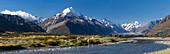 Mt Cook, Aoraki, Mackenzie, Canterbury, New Zealand Alps, South Island, New Zealand, Oceania