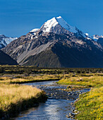 Mt Cook, Aoraki, Mackenzie, Canterbury, New Zealand Alps, South Island, New Zealand, Oceania