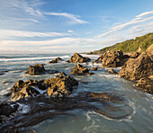 Rocky coastline, West Coast, South Island, Tasman Sea, New Zealand, Oceania
