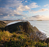 Küstenlandschaft bei Cape Reinga, Aupouri Peninsula, Nordinsel, Neuseeland, Ozeanien