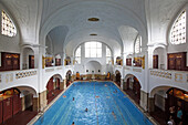 Art Deco swimming pool at Muellersches Volksbad, Haidhausen, Munich, Upper Bavaria, Bavaria, Germany