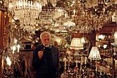 Antique dealer Manfred Wambsganss, Kunstoase, Hohenzollernstrasse, Schwabing, Munich, Upper Bavaria, Bavaria, Germany