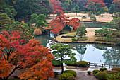 Rikugien Garden in Autumn, Taito-ku, Tokyo, Japan