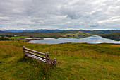 Loch Thurnaig, Loch Ewe, Berge, Bank, Aussicht, Spiegelung, Schottland
