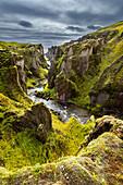 Skafta, Fluss, Schlucht, Canyon, Kirkjubaejarklaustur, Fjadrargljufur, Island, Europa