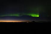 Northern Lights, Aurora Borealis, Sunset, Myvatn, Iceland, Europe