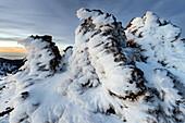 Ice formations at Roque de los Muchachos, La Palma Island, Canary Islands, Spain