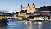Michaelerkirche, river Steyr, Steyr, Upper Austria, Austria