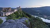 Castle ruins Aggstein, Danube, Wachau, Lower Austria, Austria
