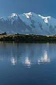Lac De Cheserys, Aiguilles Midi, Mont Blanc, Haute-Savoie, France