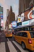Taxi, 7th Avenue, Times Square, Manhattan, New York City, USA