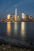 One World Trade Center, Manhattan Skyline of Paul Hook, New Jersey, Hudson River, New York City, USA