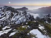 View from Pico de la Cruz, Caldera de Taburiente, island of La Palma, Canary Islands, Spain