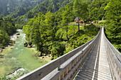 Bridge over the Salza at the Wasserlochklamm, Styria, Austria