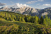 View from the Hochstein to the Lienz Dolomites, East Tyrol, Tyrol, Austria