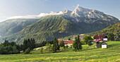 Farm near Kötschach Mauthen, Berg Polinik, Gailtal, Carinthia, Austria