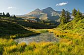 Postbus, Schwarzhorn, Große Scheidegg, Grindelwald, Berner Oberland, Schweiz