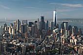 Blick vom Empire State Building Richtung Lower Manhatten, One World Trade Center, Manhatten, New York City, New York, USA