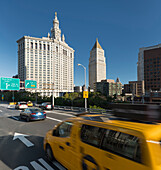 Manhattan Municipal Building, United States Court, Brooklyn Bridge, Manhatten, New York City, New York, USA