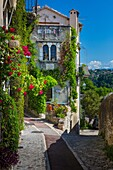 Street in Saint Paul de Vence in southern France.-----. Saint-Paul or Saint-Paul-de-Vence is a commune in the Alpes-Maritimes department in southeastern France. One of the oldest medieval towns on the French Riviera, it is well known for its modern and co