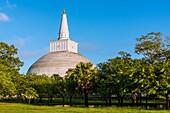 Ruwanwelisaya or Ruwanweli Maha Seya Stupa, Sacred City of Anuradhapura, North Central Province, Sri Lanka, Asia.